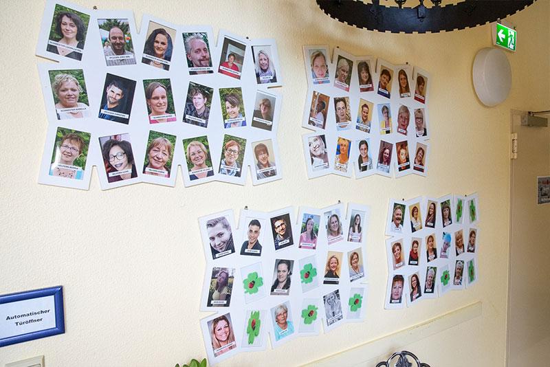 Mitarbeiter-Fotowand - Seniorenglück Haus Rünthe in Bergkamen - Auch im Alter: sicher, geborgen und zu Hause sein!